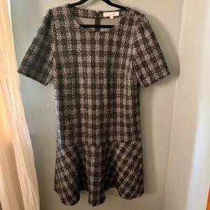 Loft Textured Flare Dress